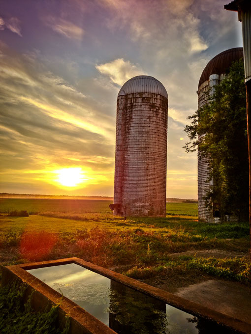 Trough-and-silo-at-sunset-by-terri-aigner
