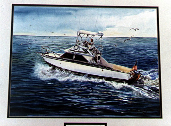 Grady White Boat Watercolor