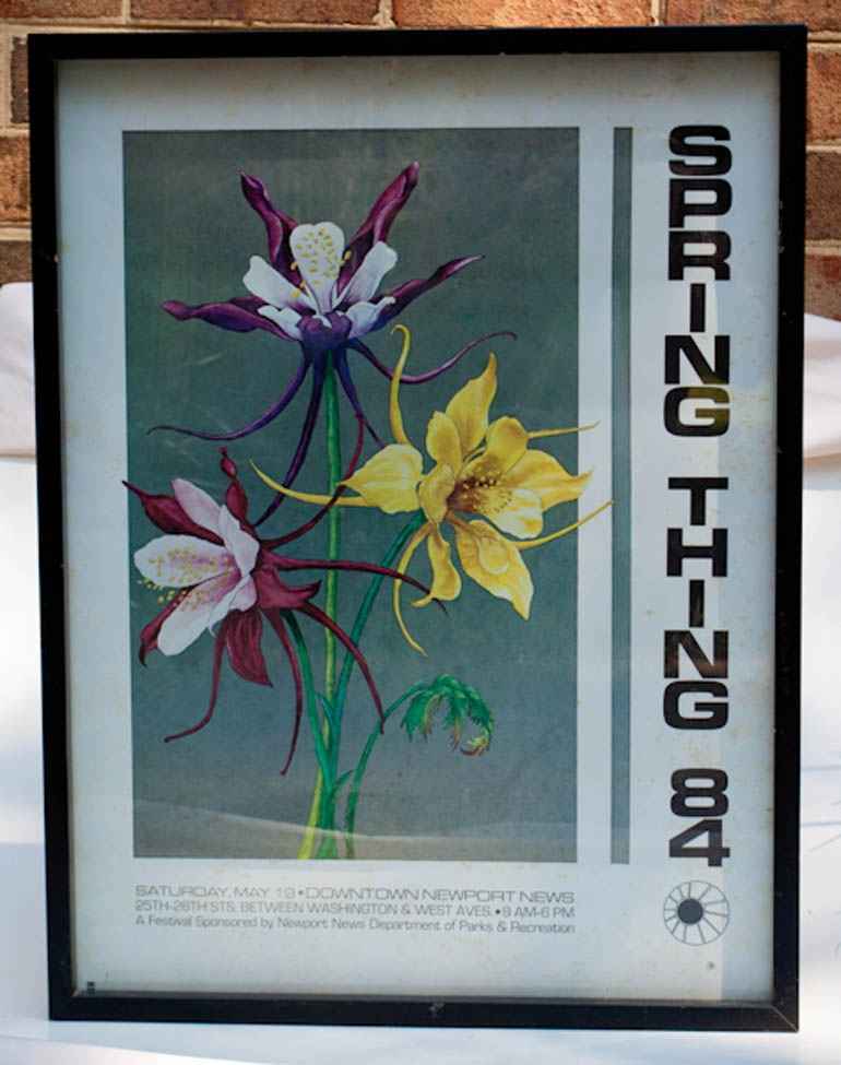 Commissioned Art: Newport-News-Festival-Poster-Spring-Thing-1984-Collectible
