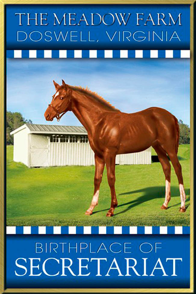 Commissioned Art: Secretariat as as Young Foal