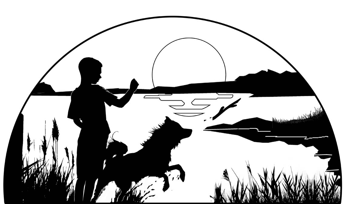 boy-and-dog-silhouette-sunset-lake-half-circle-copy