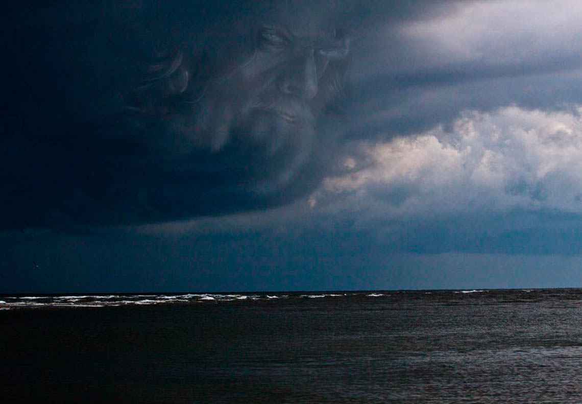Storm over ocean with Thor