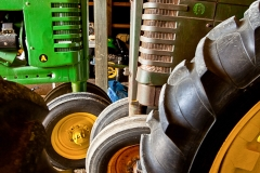 tires-of-tractors-lined-up-in-shed-576
