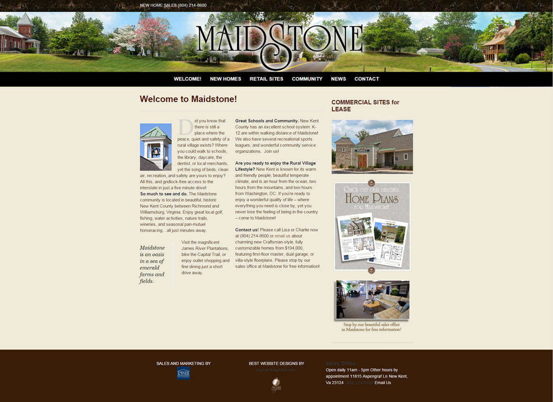 maidstonevillage-website-by-aignergraphics